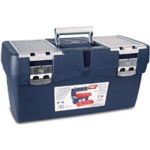 Ящик для инструментов синий + карман + футляр, металлические замки №18, TAYG, 118005
