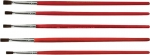 Кисти, натуральная щетина, деревянная ручка, плоские, 5 шт, FIT, 01515
