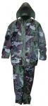 """Плащ дождевик с капюшоном, карманами и штанами """"Камуфляж"""", размер XXL, FIT, 12166"""