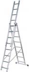 Трехсекционная алюминиевая лестница РОС, FIT