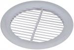Вентиляционная решетка, пластиковая, круглая, 160 мм, без сетки, белая, FIT, 75076
