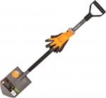 Садовая лопата штыковая Эргономик + перчатки, FISKARS, 131416