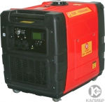 Генератор бензиновый инверторного типа 5.5 кВт, КАЛИБР, БЭГ-5500АИК