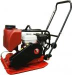 Бензиновая виброплита глубина уплотнения 350 мм с баком для воды VM-120/5,5H, DIAM, 630045