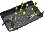Набор инструмента CushionGrip, для работ с компьютерами (4 отвертки, кусачки, круглогубцы), STANLEY, 1-65-010