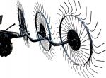 Грабли ворошильные для минитрактора (тяжелого мотоблока), 0,9-1,3 Га/час, три кольца сгребания, СКАУТ, gs-1190