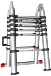 Лестница телескопическая универсальная алюминиевая 3,8м, СОРОКИН, 24.39