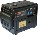 Дизельный генератор в шумозащищенном корпусе, 220В, 5,2-5,7кВт, D7500S, FOXWELD