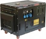Дизельный генератор в шумозащищенном корпусе, 220В, 8,5-9кВт, D12000S, FOXWELD