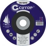 Профессиональный диск шлифовальный по металлу Т27-125x6,0x22, CUTOP, 39992т
