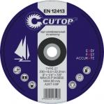 Профессиональный диск шлифовальный по металлу Т27-230x6,0x22, CUTOP, 39995т