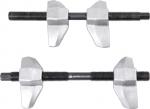 Стяжка амортизаторных пружин, 200 мм, кованая, U-образные держатели, 2 предмета, МАСТАК, 100-01200
