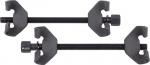 Стяжка амортизаторных пружин, 270 мм, воронёная, двойной крюк, 2 предмета, МАСТАК, 100-03270