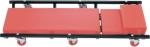Лежак ремонтный на 6-ти колесах, 1030 х 440 х 120 мм, поднимающийся подголовник, MATRIX, 567455