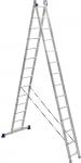 Лестница двухсекционная (2х394см/674 см, 13,5 кг), KROSPER, KRL 2х14
