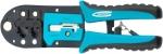 Клещи для обжима телефонных и компьютерных клемм RJ-45,6P,8P и RJ-11/12,6P,8P, GROSS, 17719
