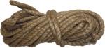 Веревка джутовая, L 10 м, крученая, D 8 мм, СИБРТЕХ, 94013