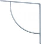 Кронштейн арочный (выгнутый), серый, СИБРТЕХ