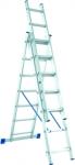Лестница, 3 х 11 ступеней, алюминиевая, трехсекционная, СИБРТЕХ, 97821