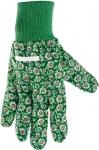 Перчатки садовые х/б ткань с ПВХ точкой, манжет, PALISAD