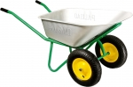 Тачка садово-строительная, 2-х колесная, усиленная, грузоподъемность 320 кг, объем 100 л, PALISAD, 689233