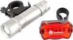 Набор велосипедный: передний 1 Вт Led, 160Lm, задний 5 red Led, STERN, 90558