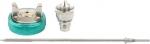 Набор для краскораспылителя AS802HVLP: сопло 1,7мм, игла, чашка, STELS, 57342
