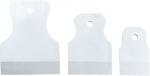 Набор шпателей 40-60-80 мм, белая резина, 3 шт., SPARTA, 858275