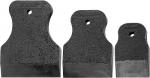 Набор шпателей 40-60-80 мм, черная резина, 3 шт., SPARTA, 858285
