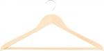 Вешалка деревянная для одежды с антискользящей рифленой перекладиной, ELFE, 92916