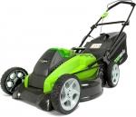 Аккумуляторная газонокосилка G40LM45, 40В (без аккумуляторной батареи и зарядного устройства), 45 см, GREENWORKS, 2500107