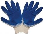 Перчатки вязаные, Хлопковые. Ладонная часть со слоем латекса, КОНТРФОРС, 040724