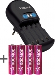 Зарядное устройство KOC503 4x2500, 8 часов, КОСМОС