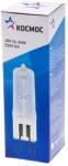 Галогенная лампа капсульная JDC G9, прозрачная, 40Вт, 230V, КОСМОС