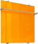 Ультратонкий стеклянный электрический полотенцесушитель Flora 60х60 оранжевый, ТЕПЛОЛЮКС, 4305057020000003