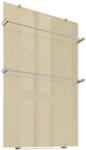 Ультратонкий стеклянный электрический полотенцесушитель Flora 60х90 коричневый, ТЕПЛОЛЮКС, 4305057022000005