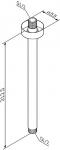 Держатель для верхнего душа 300 мм хром, AM.PM, F0500601